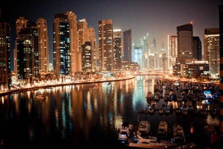 Dubai Marina Yacht at Night