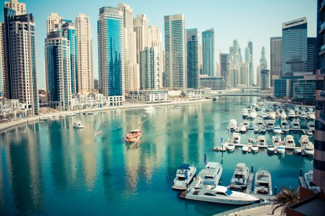 Dubai Marina at day