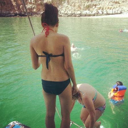 swimming in oman