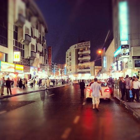 Busy street Al Satwa
