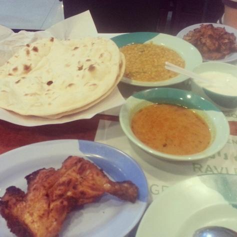 Chicken Tikka and Roti