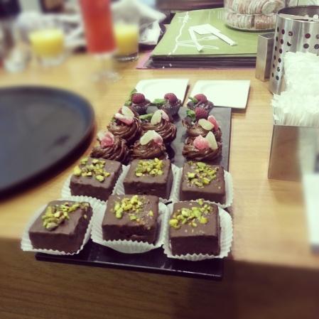 chocolate brownies and cupcakes Nofara
