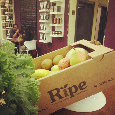 fresh organic veg and fruit Ripe ME