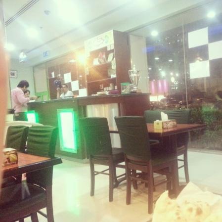 Indoor seating area of Ravi Pakistani