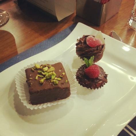 Turkish style chocolate cakes