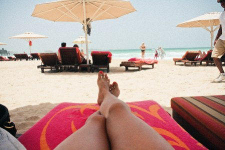 sunbathing at madinat