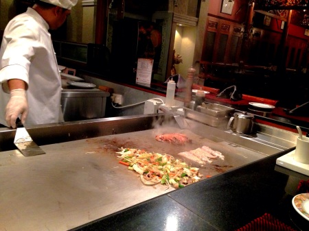 live cooking teppanyaki