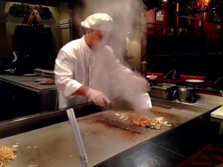 teppanyaki cooking