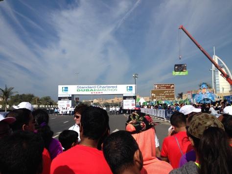 starting line marathon