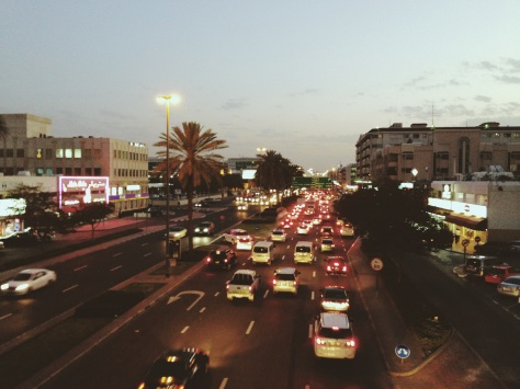 Night lights, Busy street | Karama